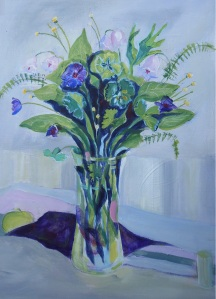 Wild Flowers in a Glass Vase