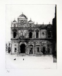 Venice, Ospedale Etching
